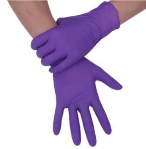 China Disposable  Long Sleeve Latex Gloves Powder Free Latex Gloves Customized Size on sale