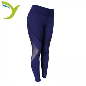 China Young Active Sports Girls Leggings Nylon Fabric Mesh Dark Color Gym Wear Leggings on sale