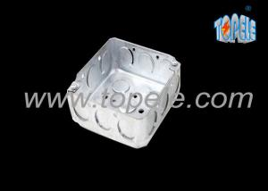 China Galvanized Steel 4 Inch Square Conduit Boxes , Outdoor Conduit Box With Knockouts on sale