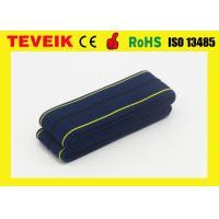 Reusable Latex free CTG Belt with Self-adhesive buckle , Dark blue ,4cm x 1.2m.