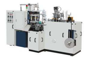 China Ultrasonic Automatic Forming Machine , Double Sided PE Coated Paper Cup Making Machine on sale