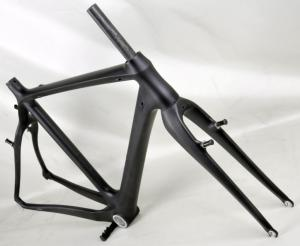 Quality V-brake Stiffness 700C Carbon Cyclocross Frameset  HT-FM266 for sale