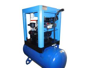 China Low Noise Screw Air Compressor / Lubricated Rotor Comp Compressor AC Power on sale
