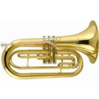 Gold Lacquer Marching Euphonium , Bb Key Brass Musical Instrument With Phosphorus Brass Leadpipe