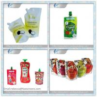 Juice Packaging Spout Pouch Side Gusset Box Pouch With Spout