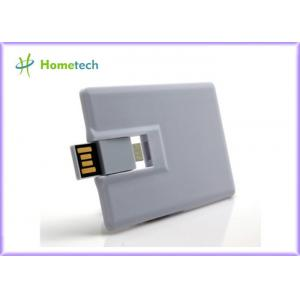 China White Plastic Credit Card OTG / Mobile Phone USB Flash Drive 16GB 32GB for Smart Phone on sale