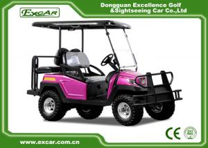 China Rose Color Electric Fuel Type 4 Wheel Electric Golf Car Electric Vehicle 48 Voltage Aluminium Framework on sale