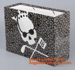 Luxury reusable sturdy screen printing carrier paper bag for shopping,luxury carrier paper bag with plastic handle & riv