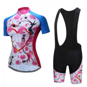 China Popular Female Style Outdoor Cyclist's Clothing Cool Dry Beathable Anti-Sweat Polyester Riding Bike Jersey Suits on sale