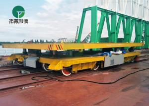 China 350 Ton Large Capacity Load Cable Reels Powered Shipyard Steel Part Handling Cart On Track on sale
