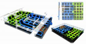 China 350M2  New Soft Indoor Trampoline Indoor Amusement Trampoline Park Jump Bed on sale