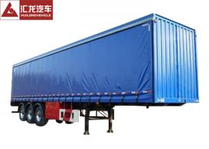 China Blue Color Curtain Side Flatbed PVC Tarpaulin High Strength Steel Structure High Strength Cord Fabric on sale