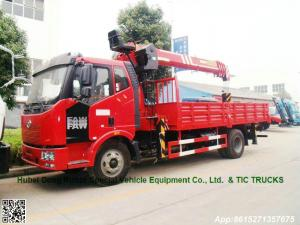 China FAW 4x2 J6 truck mounted crane Palfinger 8T SPS20000 Telescopic boom Whatsp:8615271357675 on sale