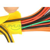 Multi - Filament Self Closing Braided Wrap Custom Size For Wire / Cable Harness