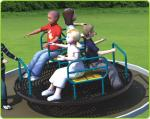 Carousel Model Outdoor Recreational Facilities C Shape With Fitness Seat Turntable