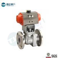 ASME B16.34 CLASS 600  SS316 Flanged Connection  Ball Valve for Petrol Chemical Valve with Penumatic Actuator