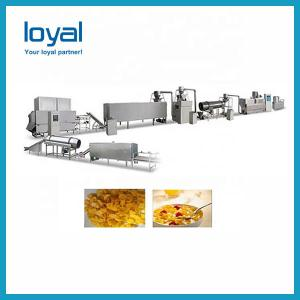 China Full Automatic Breakfast Cereal Manufacturing Equipment Corn Flakes Extrusion Plant on sale