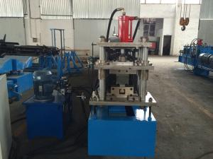China Horizontal Storage Rack Roll Forming Machine With Hydraulic Punching System on sale