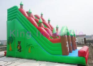 China Outdoor Giant Inflatable Forest Park Theme Dry Slide Vivid Animals Around For Rental on sale