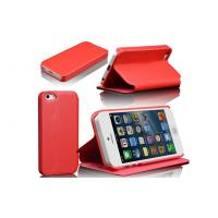 Anti-Wear PU Leather Phone Case with Stand For iPhone 5 , Custom Color / Pattern