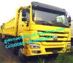 HOWO 8x4 50t Heavy Duty Dump Truck , HYVA Hdraulic lifting system