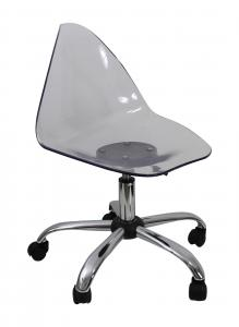 Clear Plastic Swivel Chair For Decoration , Seat Lift Chairs Reusable