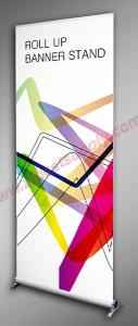 China Retractable roll up banner stand on sale