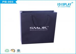 China Custom Recycled Black Gift Bags / Large Gift Bags Panton Offset Printing on sale