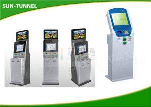 China Free Standing Financial Services Kiosk , Retail Mall Kiosk With Barcode Reader on sale
