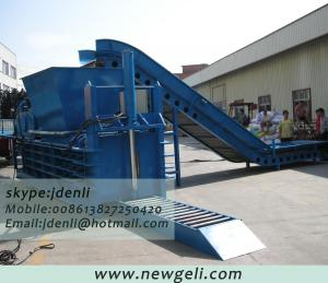 China PET bottle baling machine,plastic bottle compressing machine,waste plastic baling press on sale