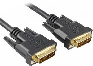 China Dual Link Gold Plated Dvi To Dvi Cable For Hdtv, Dvd, Tv, High Speed Dvi Custom Cable Assembly on sale