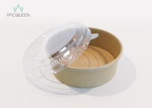 China Compostable Takeaway Food Containers Kraft Paper Bowls For Street Food on sale