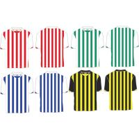 Custom Polyester Striped Soccer Jersey, Person Football Shirt ,Quickly Dry Football Shirts