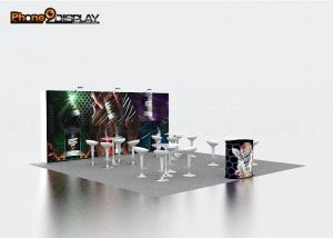 China Professional Backlit Trade Show Booths 10x10 With Front Side Printing on sale