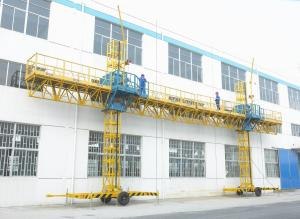 China Twin-Mast Climbing Platfor, Construction Lifting Suspended Gondola 2000kg Loaded 8m Height on sale