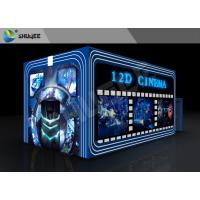 Entertainment Virtual 12D Cinema XD Theatre Cabin With 3DOF Eletric Chairs