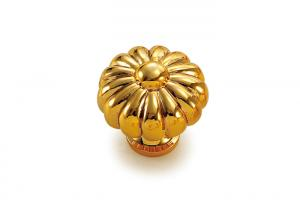 Quality Gold plated Decorative Cabinet Knobs / Dresser Drawer Knobs And Pulls for sale