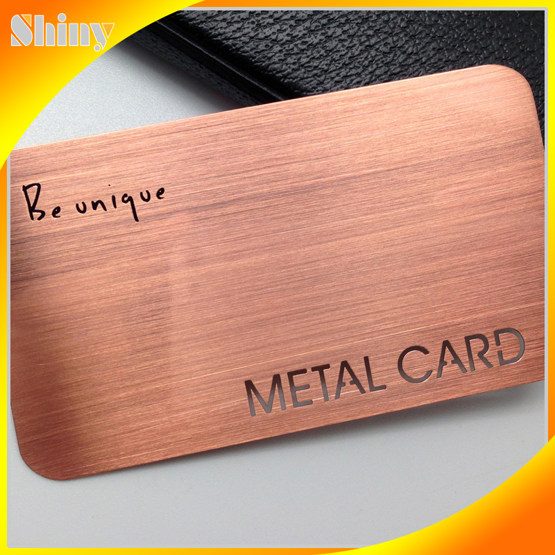 Gold Plate Stainless Steel Name Card /Etching Metal Business Card ...