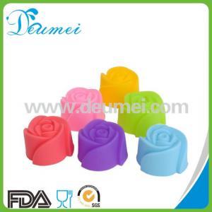 China Rose Flower Mini Cupcake Silicone Baking Mold on sale