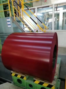 China YK Red Prepainted Steel Coil Galvanized Steel Sheet Coil TCT 0.25 X 914mm G550 on sale