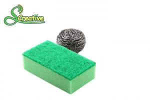 China Sink Cleaning Stainless Steel Scourer , Multi Purpose Steel Scrubbing Pads on sale