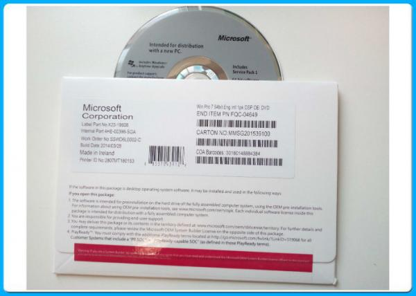 Microsoft Windows 7 Professional  64-Bit SP1 NEW SEALED FQC-04649