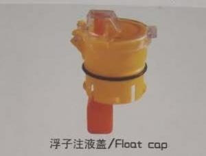 China Yellow Red Safety Vent Plug For Battery , Lead Acid Battery Vent Caps on sale