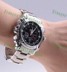 Quality La cámara del reloj del espía de la prenda impermeable de HD 1080P con la visión for sale