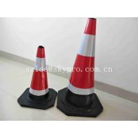 Road Soft Plastic Fluorescent Flexible Roadway Safety Rubber Traffic Cones