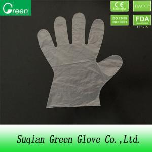 China TPE / CPE Clear Disposable PE Gloves For Household Phthalate Free on sale
