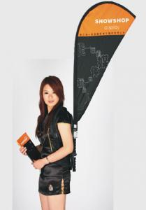 China Customized Beach Feather Flying Banners / Advertising Flags And Banners on sale