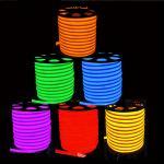 Dobre luzes de néon brancas da luz 80leds/M do diodo emissor de luz/frescas mornas de néon da corda do diodo emissor de luz de white/R/G/B/RGB AC85-265V