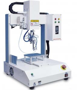 China Digital Lcd Display Pcb Soldering Machine , Automatic Soldering Robot on sale