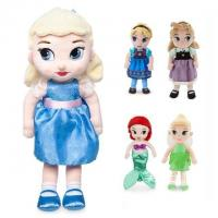 China Funny Disney Princess Plush Baby Animals for Collection / Newborn Soft Toys on sale